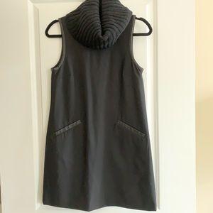 Theory Cowlneck Shift Pocket Sleeveless Dress sz 2